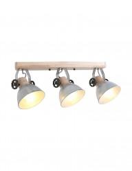 Foco de madera tres luces Mexlite Gearwood-2133NI