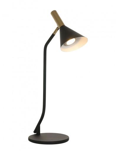 Lámpara de mesa negra y dorada-2489ZW