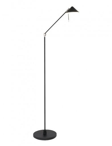 Lámpara de pie LED negra Steinhauer Punkt-2559ZW