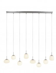 Lámpara con ocho esferas colgantes Steinhauer Bollique-2566ST