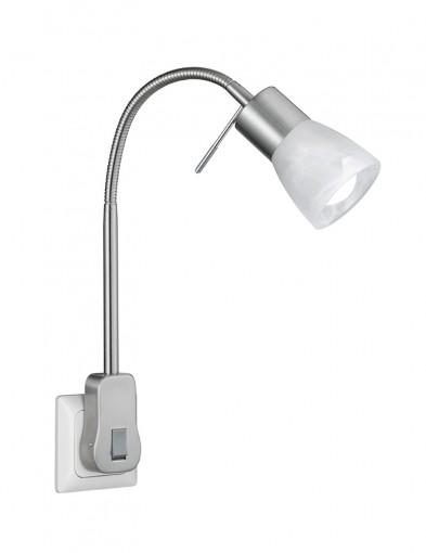 Lámpara de enchufe de acero-2584ST