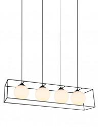 Lámpara colgante con cuatro esferas-2611ZW