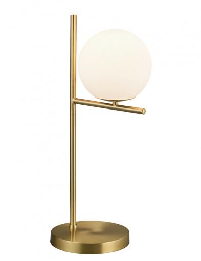 Lámpara de mesa dorada con esfera-2644ME