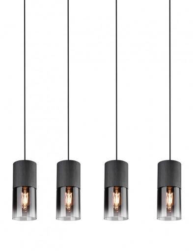 Lámpara de cristal de cuatro luces-2647ZW