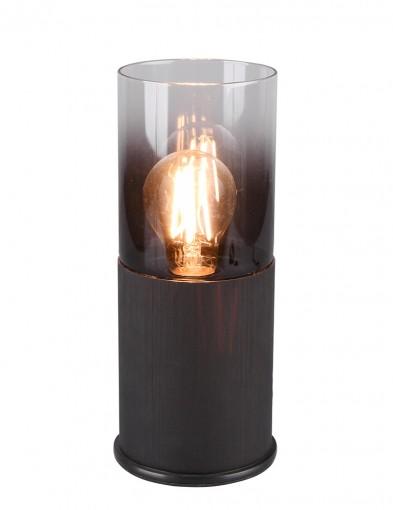 Lámpara de mesa de vidrio ahumado-2649ZW