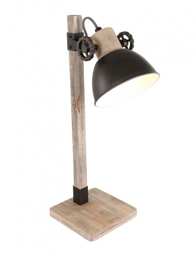 Lámpara de mesa de madera Mexlite Gearwood-2665A