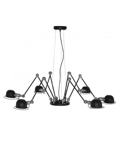 Lámpara colgante negra Mexlite Davin-2667ZW