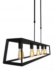 Lámpara colgante negra Mexlite Buckley-2675ZW