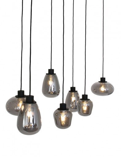 Lámpara de vidrio ahumado para comedor Steinhauer Reflexion-2680ZW