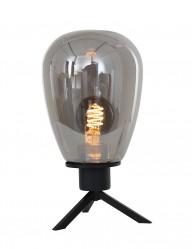 Lámpara de mesa de vidrio oscuro Steinhauer Reflexion-2682ZW