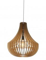 Lámpara colgante de madera Steinhauer Smukt-2696BE