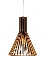 Lámpara de techo elegante de madera Steinhauer Smukt-2698BE