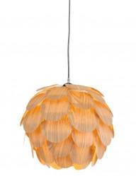 Lámpara colgante flor de madera Mexlite Finn-2700BE