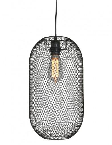 Lámpara colgante de malla negra Mexlite Bodine-2706ZW