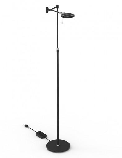 Lámpara de pie negra para lectura Steinhauer Turound-2713ZW