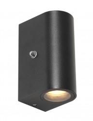 Aplique negro con sensor crepuscular Steinhauer Poro-2720ZW