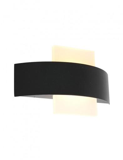 Aplique LED semicircular Steinhauer Cebu negro-2723ZW