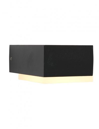 Aplique cuadrado dos luces Steinhauer Cebu negro-2724ZW