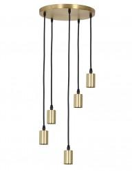 Lámpara colgante dorada cinco focos Light & Living Brandon-2837GO