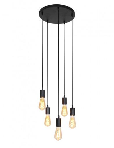 Lámpara colgante de cinco focos-2838ZW