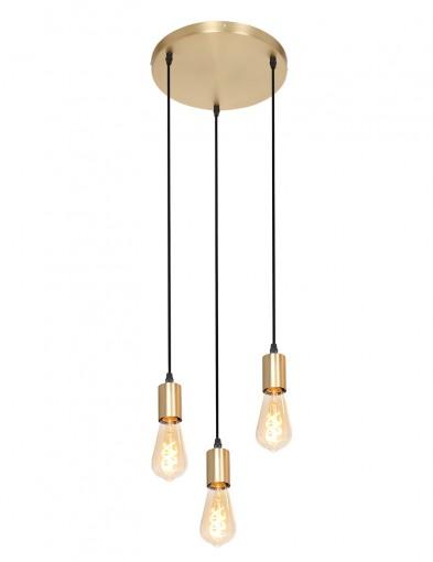 Lámpara colgante de tres luces-2839GO