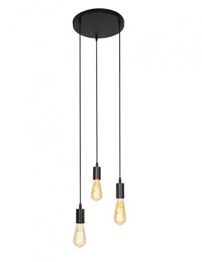 Lámpara negra de tres luces-2840ZW