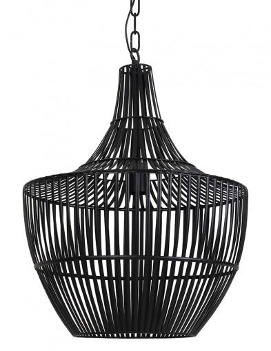 Lámpara de comedor negra con madera Light & Living Banu-2847ZW