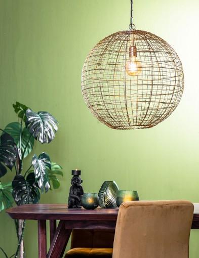 Lámpara esférica dorada-2852GO