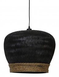 Lámpara colgante de ratán negro Light & Living Evelie-2853ZW