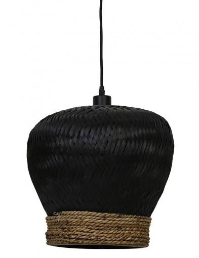 Lámpara trenzada negra Light & Living Mikki-2856ZW