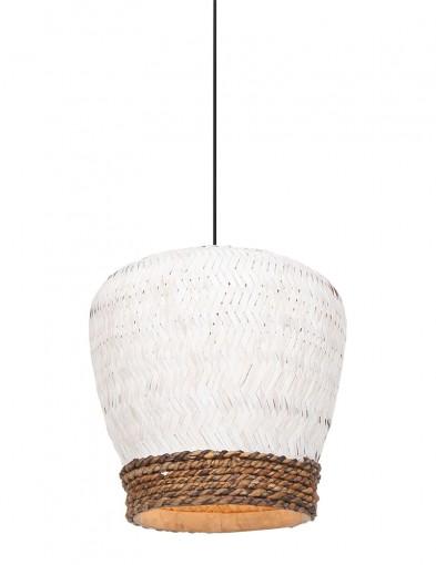 Lámpara colgante de ratán bicolor-2858W