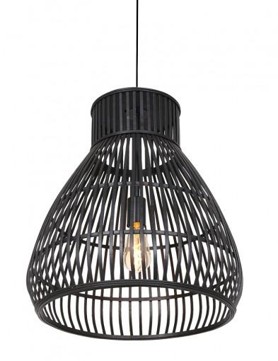 Lámpara de techo de ratán en negro-2869ZW
