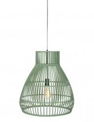 Lámpara colgante de ratán verde Light & Living Timaka-2870G