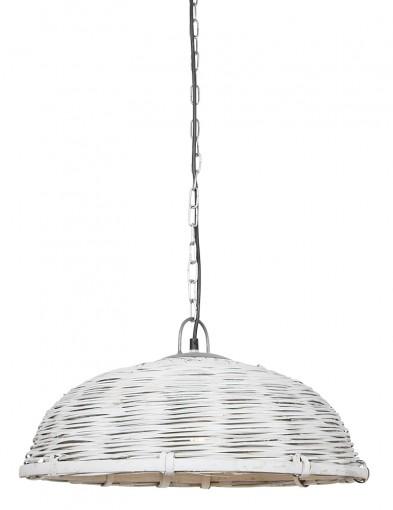 Lámpara de techo de ratán blanco Light & Living Jaelynn-2877W