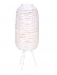 Lámpara blanca de ratán-2907W