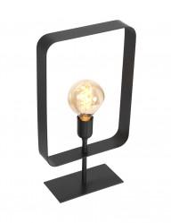 Farol negro con marco rectangular-2914ZW