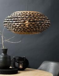 Lámpara colgante ovalada de ratán-2933B