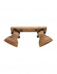 Foco de madera dos luces-2938B