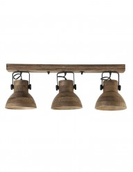 Foco de madera tres luces Light & Living Ilanio-2939B