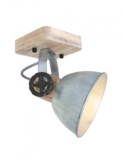Foco de techo de madera Mexlite Gearwood-7968NI