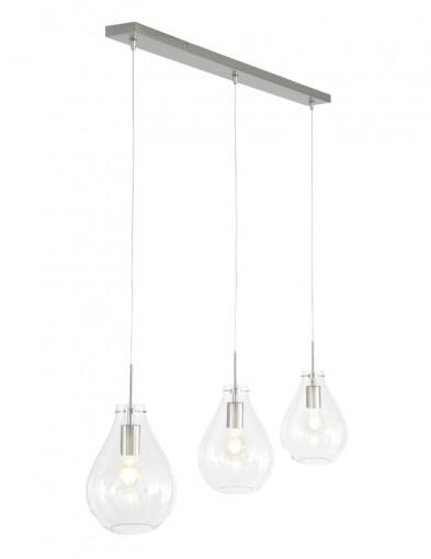 Lámpara colgante 3 luces de gota Steinhauer Glass-9314ST