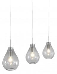 Lámpara de techo de vidrio ahumado 3 luces Steinhauer Glass-9315ST