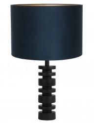 Lámpara con pantalla de terciopelo azul Light & Living Desley-9341ZW
