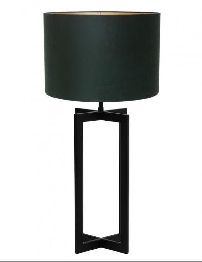 Lámpara de mesa verde de terciopelo Light & Living Mace-9346ZW