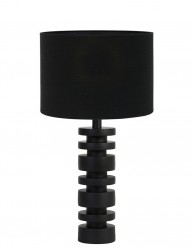 Lámpara de mesa torneada negra Light & Living Desley-9360ZW