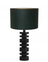 Lámpara de mesa torneada verde Light & Living Desley-9362ZW