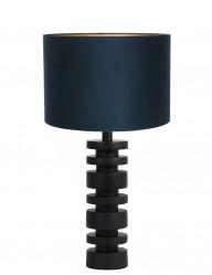 Lámpara de mesa torneada azul Light & Living Desley-9363ZW