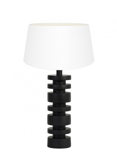Lámpara de mesa blanca torneada Light & Living Desley-9365ZW