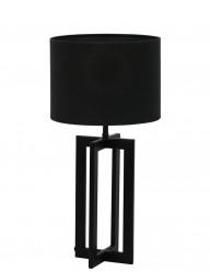 Lámpara negra con pantalla negra Light & Living Mace-9366ZW