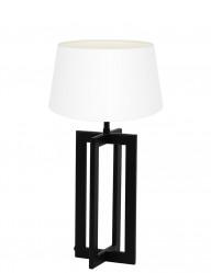 Lámpara negra con pantalla blanca Light & Living Mace-9371ZW